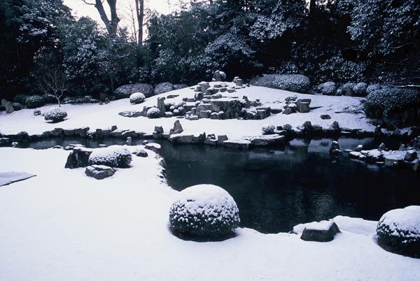【雪景色】4 石の上