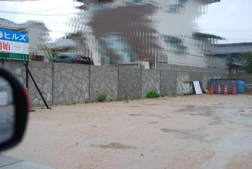 雨天時擁壁写真