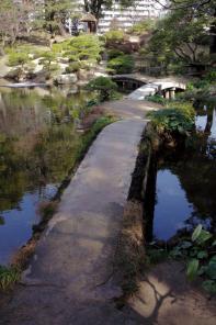 縮景園の橋