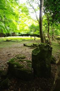 等樹院跡の立手水