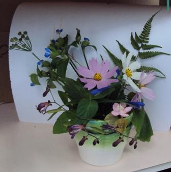 野草の生け花