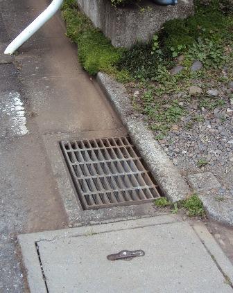 我が家の周りにある排水溝
