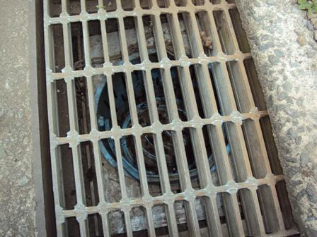 排水溝の拡大写真