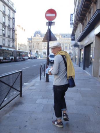 パリの朝は寒い!