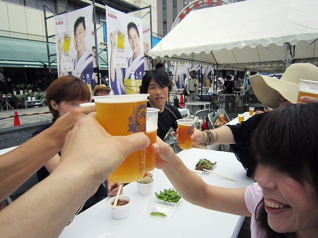 『鉄人ビアガーデン』、ビールうまかった~ヽ(^o^)丿