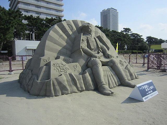 須磨海岸サンドアート『平清盛とみなと神戸』を見ちゃった件。(^^)v