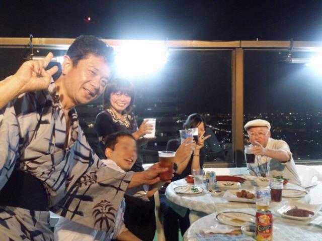 新長田大丸ビアガーデン♪今年、2度行きました。ヽ(^o^)丿
