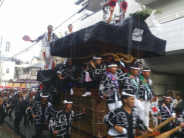 2012.9.14岸和田だんじり祭試験曳き。どしゃ降りでしたヽ(^o^)丿