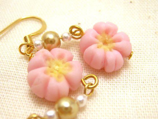 桜の練りきりピアス3