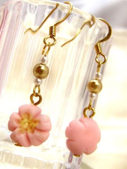 桜の練りきりピアス4