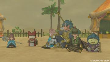 砂漠で休憩(*´∀`*)