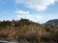 岡山道 車中から登った山を眺める。
