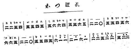 鉄琴独まなび(鉄心琴)かっぽれ譜面