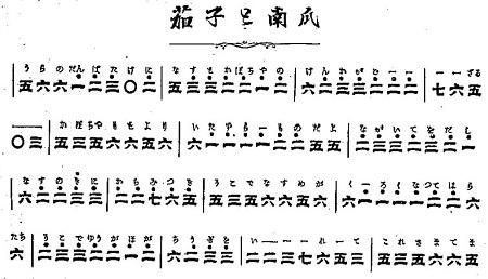 鉄琴独まなび(鉄心琴)茄子と南瓜譜面