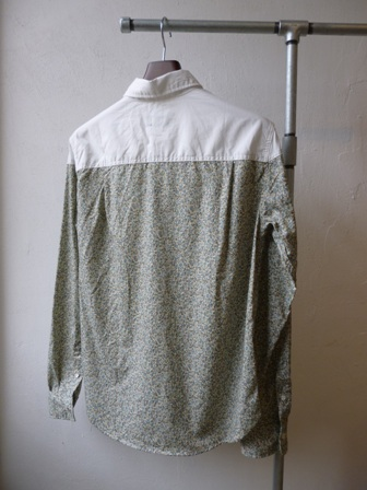 【niche】pareja regular collar shirts - flower