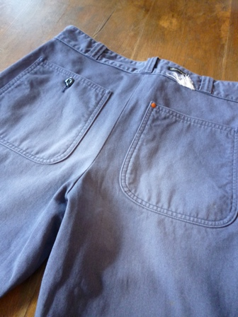 【SUNNY SPORTS】サニースポーツ CHINO DECK TROUSER -USED- KHAKI BLUE