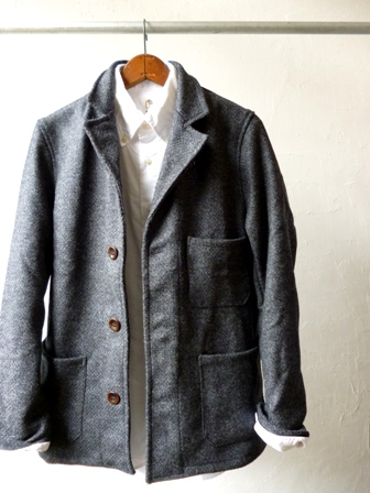 【Yarmo】DRIVER JACKET(Wool Oxford -GREY-)ヤーモ ドライバー ジャケット