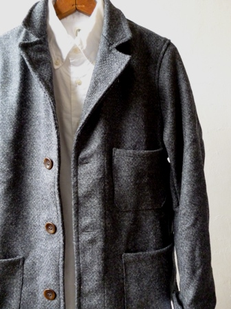 【Yarmo】DRIVER JACKET(Wool Oxford -GREY-)ヤーモ ドライバージャケット