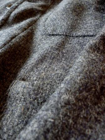【Yarmo】DRIVER JACKET(Wool Oxford -GREY-)ヤーモ ドライバーズ ジャケット