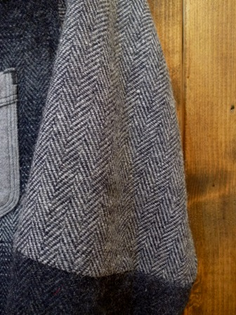 【SUNNY SPORTS】PATCH WORK SHIRTS (ORIGINAL HERRINGBONE WOOL)サニースポーツ パッチワークシャツ (オリジナルヘリンボーンウール)