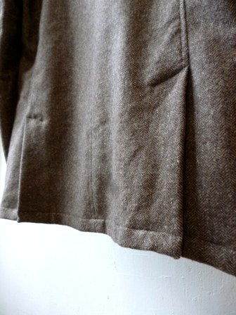 【Vas-y Lentement】HERRINGBONE SIDE VENT TAILORED JACKET ヴァジーラントマン ヘリンボーン サイドベントテーラードジャケット