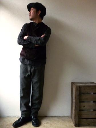 【orslow】BUCKLE BACK TROUSER(WOOL)オアスロウ バックルバック ウールトラウザー