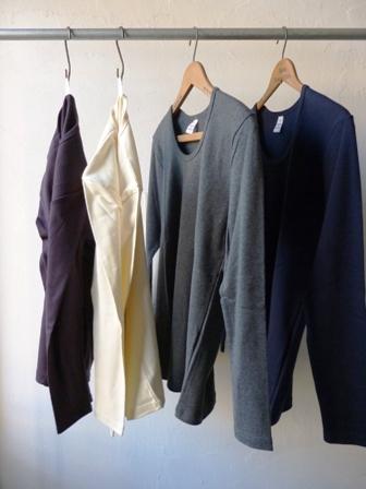 【Fabrique en FRANCE】1×1RIB U-NECK L/SL T-SHIRT ファブリケ アン フランス Uネック ロングスリーブ Tシャツ