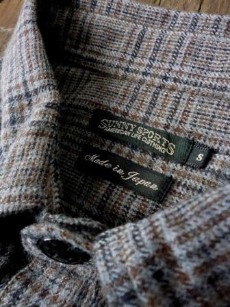 【SUNNY SPORTS】CHECK WORKER SHIRTS -grey-サニースポーツのチェックワーカーシャツ