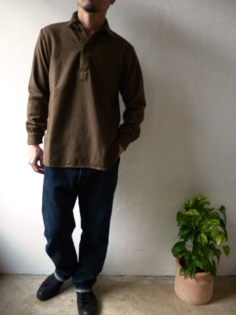 【HARROW TOWN STORES】 Work Pullover Shirts ハロウタウンストアーズの ワーク プルオーバーシャツ