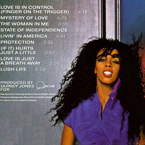Donna Summer Love Is in Control 1