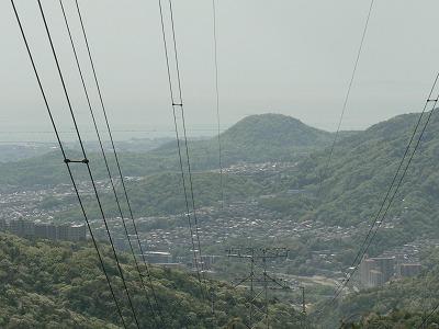 大峰山付近から甲山をみる