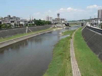 武庫川三田市内上流をみる