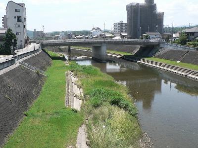 武庫川三田市内下流をみる
