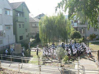 茨田樋歴史水辺公園で説明