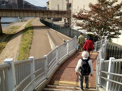 音楽学校前の階段です
