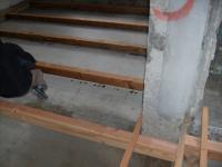 1階土台部分防腐剤塗布状況