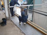 2階サッシ取付部分コンクリート打設(サッシ土台)