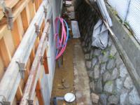外部下水・雨水配管工事完了