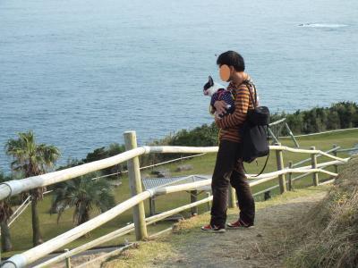 景色を眺める 親子