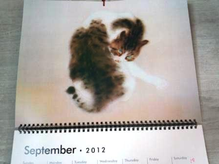 猫カレンダー9月