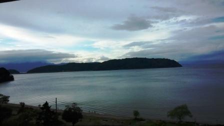 部屋から見える琵琶湖 (1)
