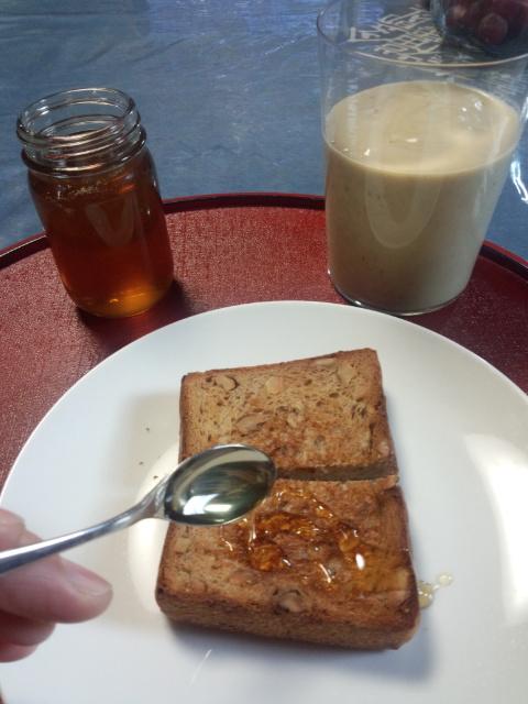 パンとロンガン蜂蜜