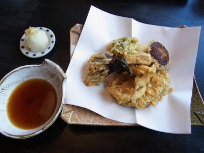 安曇野(野菜天婦羅盛合¥1050)