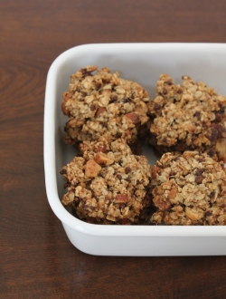 オートミールと黒糖のクッキー