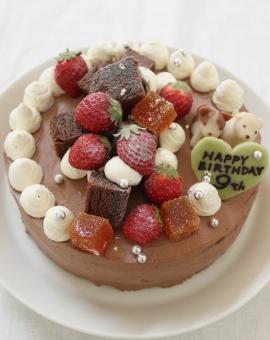 粉糖と銀の星ふったケーキ