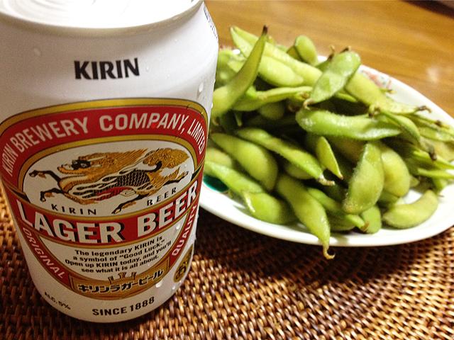 キリンラガーと枝豆