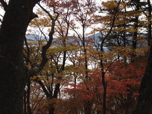 中禅寺湖湖畔にて