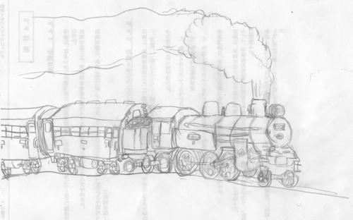 20130819U太の描いた蒸気機関車