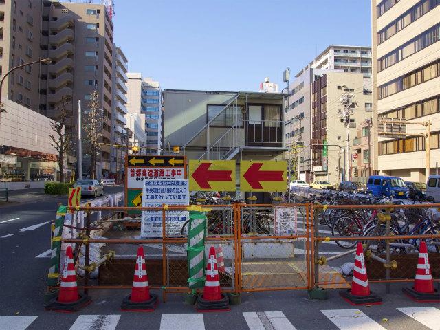 五反田出入口工事の起点。結局ランプ部ははっきりとは見えず。