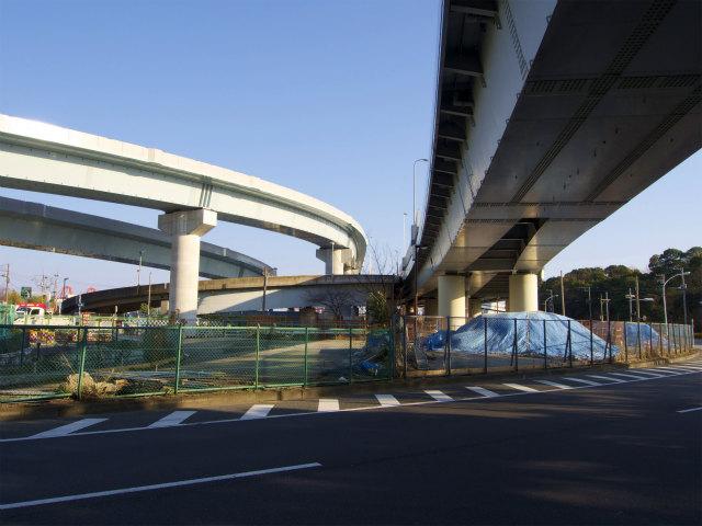 羽田線側から見る。大井南側から中央環状線へのランプが見当たらない。